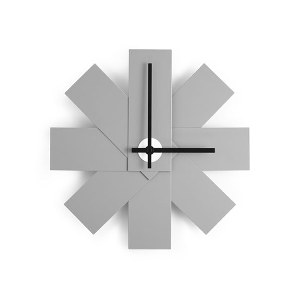 watch me wall clock,グレー