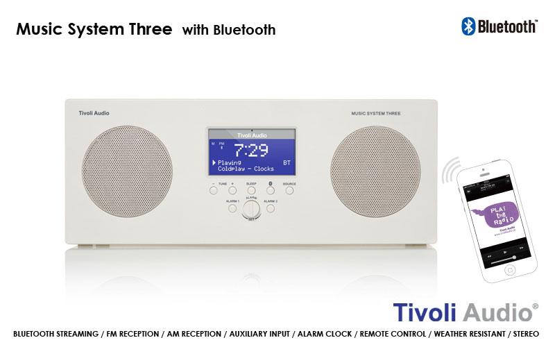 Tivoli Audio,チボリオーディオ,Music System Three,AMFMクロックラジオ,テーブルラジオ,デザイン家電,デザイン雑貨,北欧インテリア,北欧雑貨