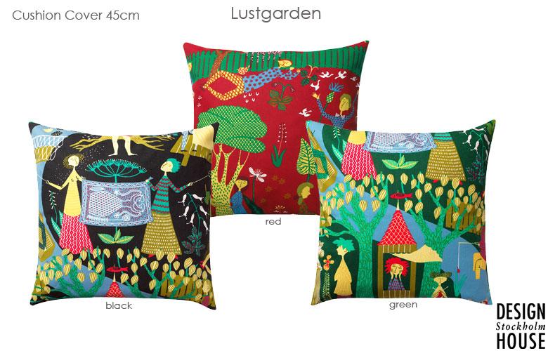 クッションカバー45cm,Lastgarden,エデンの園,スティグ・リンドベリ,Stig Lindberg,DESIGN HOUSE stockholm,デザインハウスストックホルム,art pillow,アートピロー,スウェーデン,北欧雑貨,北欧インテリア