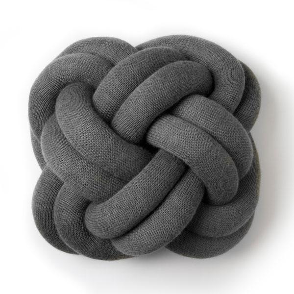 knot cushion,ノットクッション,グレー