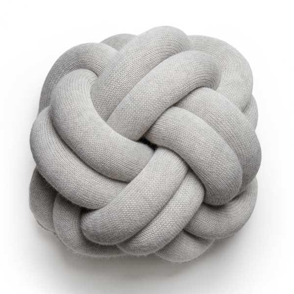 knot cushion,ノットクッション,ライトグレー