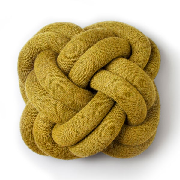 knot cushion,ノットクッション、イエロー