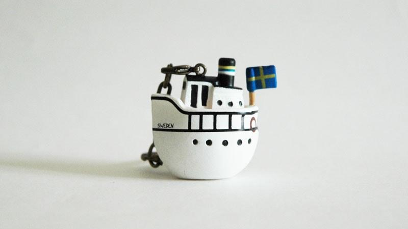 Lisa Larson,リサ・ラーソン,キーホルダー,boat,ボート