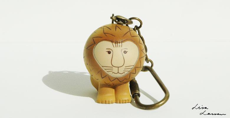 Lisa Larsonリサ・ラーソン/ミニアニマルシリーズ・キーホルダー・Lionライオン