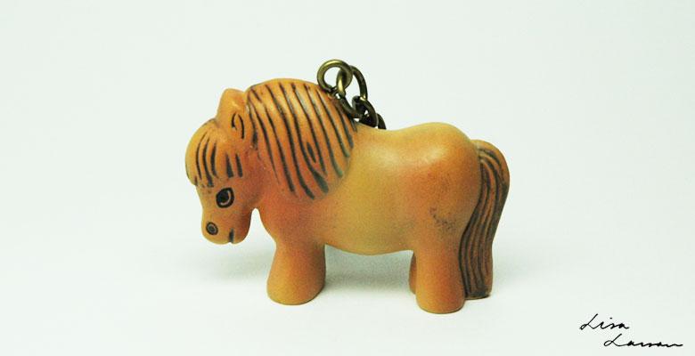 Lisa Larsonリサ・ラーソン/ミニアニマルシリーズ・キーホルダー・pony,ポニー