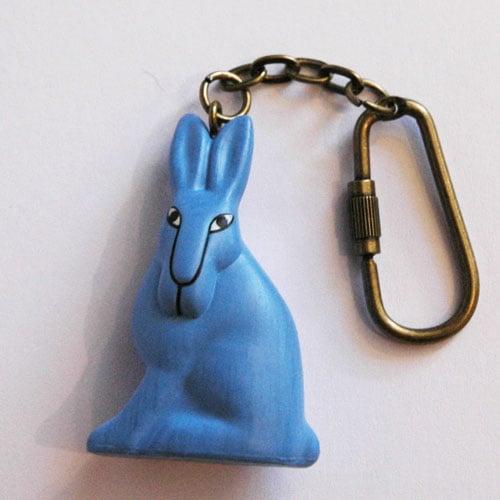 Lisa Larsonリサ・ラーソン/ミニアニマルシリーズ・キーホルダー/ウサギのキーリング部分