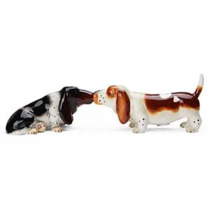 Dog Salt&Pepper Shakers Basset hounds(ドッグ・ソルト&ペッパー・バセットハウンド),ドッグ・ソルト&ペッパー,塩コショウ入れ,Westlandgiftware,ギフト,贈り物