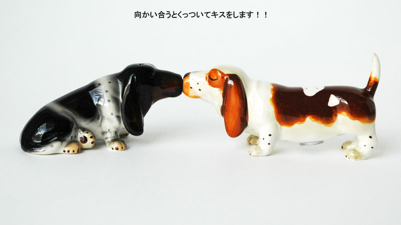 DogS&PShakers,Basset hounds(バセットハウンド),ドッグ・ソルト&ペッパー,塩コショウ入れ,Westland