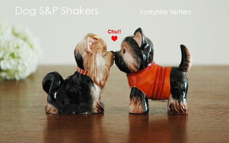 DogS&PShakers,Yorkshire terriers,ヨークシャテリア,ドッグ・ソルト&ペッパー,塩コショウ入れ,Westlandgiftware,ギフト,贈り物