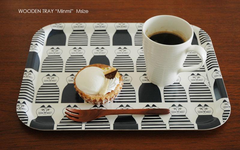 Minmi,ミンミ,Wooden tray,lisa larson,リサラーソン,木製トレイ,mサイズ,optodesign,北欧雑貨,北欧インテリア,北欧キッチン雑貨