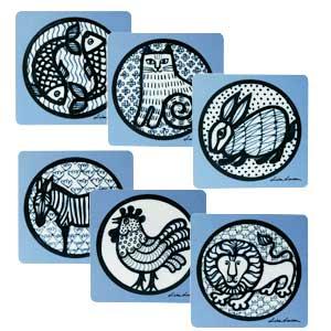 Wooden coaster,Nina,ニナ,lisa larson,リサラーソン,木製コースター,optodesign,北欧雑貨,北欧インテリア,北欧キッチン雑貨