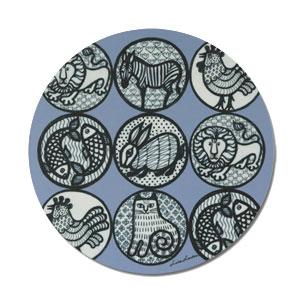 Wooden coaster,Nina,ニナ,lisa larson,リサラーソン,ポットコースター,optodesign,北欧雑貨,北欧インテリア,北欧キッチン雑貨