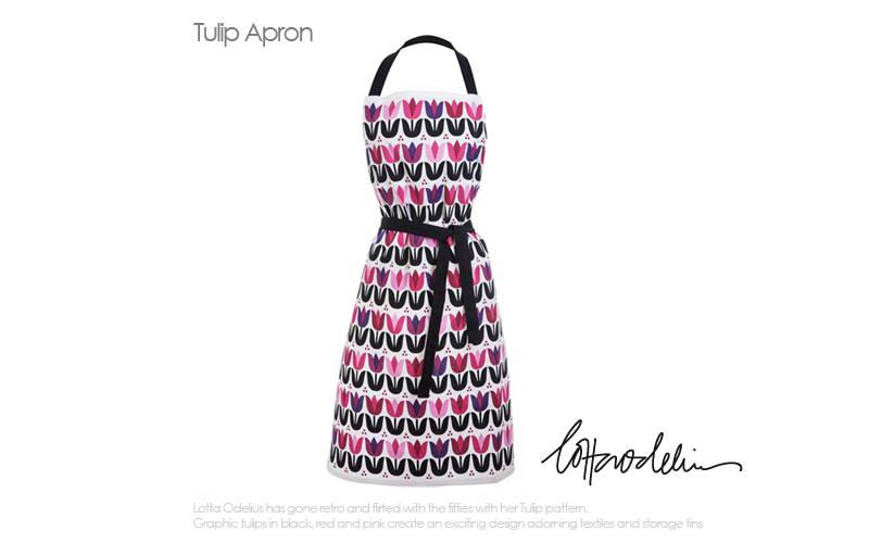 tulip,apron,チューリップ・エプロン,Sagaform,サガフォルム,北欧キッチン雑貨,lotta odelius,ロッタ・オデリウス,スウェーデン,北欧雑貨