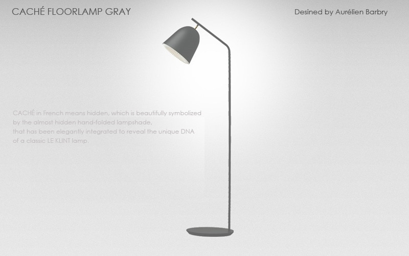 LE KLINT(レ クリント)CACHE Floor Lamp(キャシェ・フロアーランプ),グレー,北欧フロアーライト,デザイナーズ照明,北欧インテリア,デンマーク