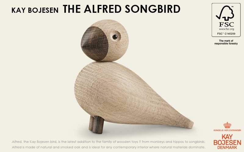 song bird,ソングバード,alfred,アルフレッド, Kay Bojesen,カイ・ボイスン,木製オブジェ ,デンマーク,北欧,北欧雑貨,北欧インテリア,北欧ギフト