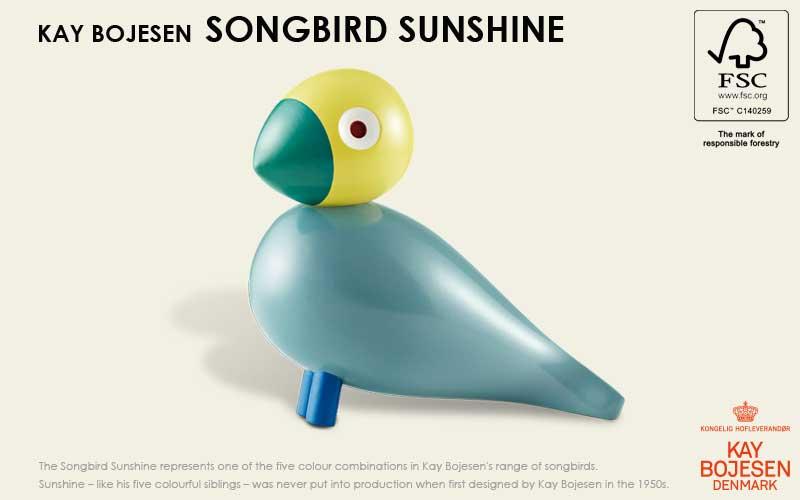 song bird,ソングバード,サンシャシン, Kay Bojesen,カイ・ボイスン,木製オブジェ ,デンマーク,北欧,北欧雑貨,北欧インテリア,北欧ギフト