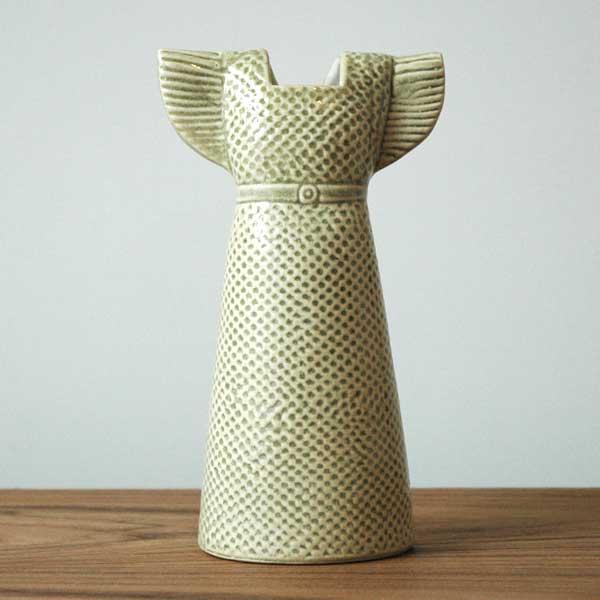Wardobe Vases Dress,ワードローブ,ドレス,ブラウン,フラワーベース,Lisa Larson,リサラーソン