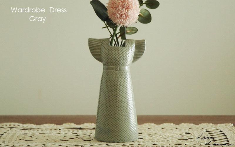 Wardobe Vases Dress,ワードローブ,ドレス,グレー,フラワーベース,Lisa Larson,リサラーソン,北欧,花瓶,フラワーベース,オブジェ,置物,北欧雑貨,北欧インテリア