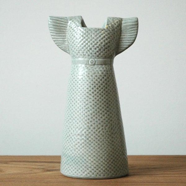 Wardobe Vases Dress,ワードローブ,ドレス,グレー,フラワーベース,Lisa Larson,リサラーソン