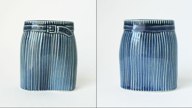 Wardrobe Vases Skirt,スカート,正面と後ろ,フラワーベース,Lisa Larson,リサラーソン,北欧,花瓶,フラワーベース,オブジェ,置物,北欧雑貨,北欧インテリア