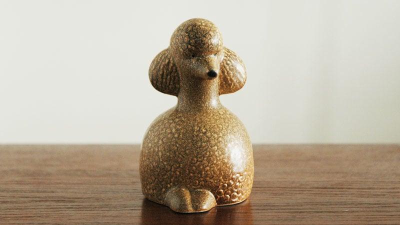 Lisa Larson,リサ・ラーソン,Poodle(プードル)の正面