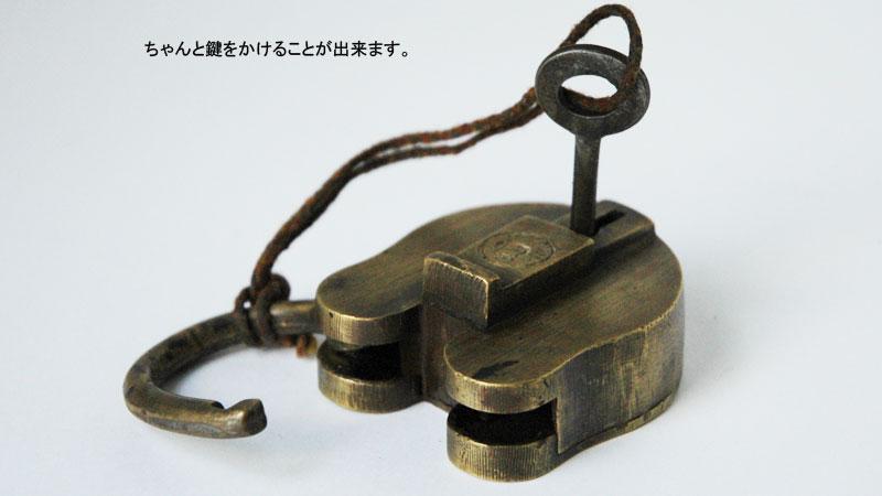 old brass padlock,large,オールドブラス・パドロック,アンティーク南京錠