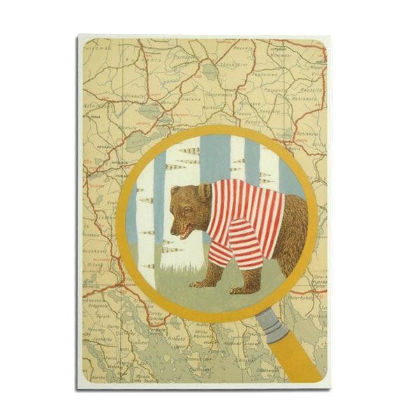 travelingsomewhere in finland,クマ,ポストカード,フィンランド,joutomaa,ヨートマー,reetta lsotupa-siltanen,ッタ・イソトパルシルタネン,北欧雑貨