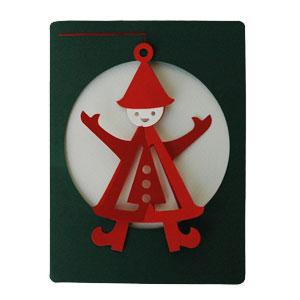 モビールクリスマスカード,nisse,クリスマスカード,Livingly,リビングリー,北欧デンマーク,北欧クリスマスカード,北欧モビール,北欧雑貨,北欧インテリア