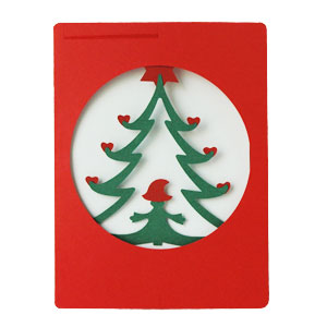 モビールクリスマスカード,tree