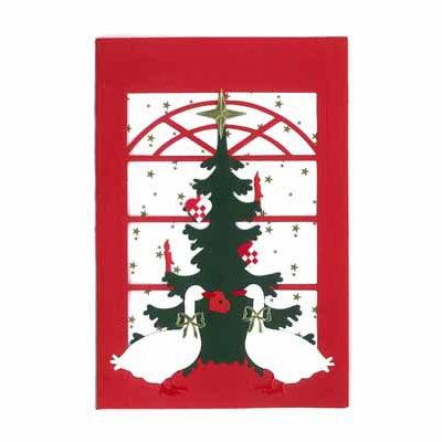 クリスマスカード,恋に落ちたアヒル,Oda Wiedbrecht,オダ・ウィードブレクト,北欧デンマーク,ハンドメイドクラフト