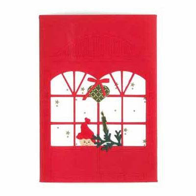 クリスマスカード,窓辺のニッセ,Oda Wiedbrecht,オダ・ウィードブレクト,北欧デンマーク,ハンドメイドクラフト