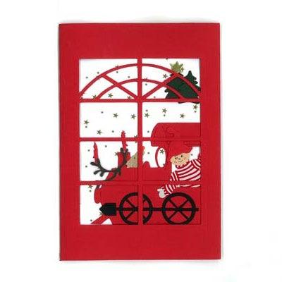 クリスマスカード,クリスマストレイン,Oda Wiedbrecht,オダ・ウィードブレクト,北欧デンマーク,ハンドメイドクラフト