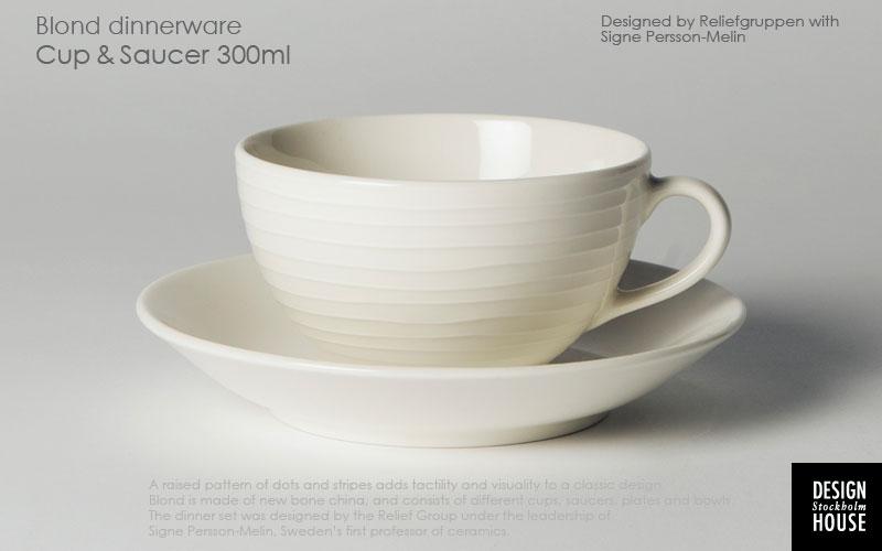 DESGIN HOUSEstockholm(デザインハウス・ストックホルム)BLONDシリーズのカップ&ソーサー,北欧,スウェーデン,北欧雑貨,北欧インテリア,北欧ギフト