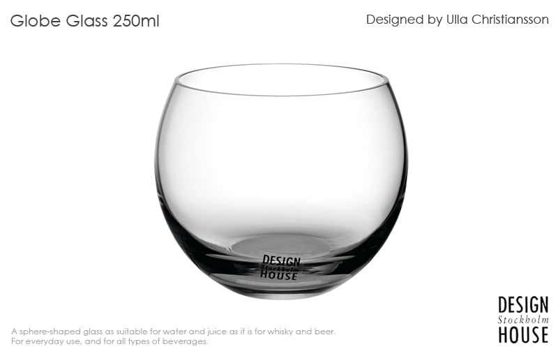 Globe glassグローブグラス,250ml,DESIGN HOUSE stockholmデザインハウス ストックホルム,北欧スウェーデン,北欧雑貨,北欧インテリア,北欧ギフト