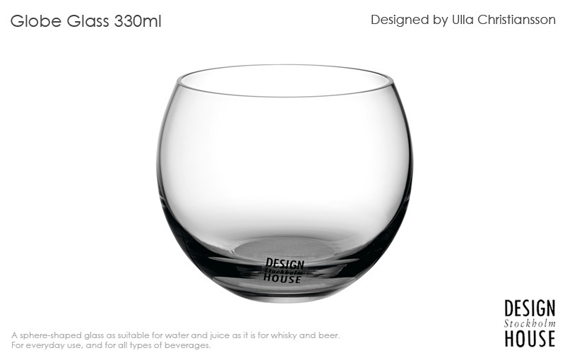 Globe glassグローブグラス,330ml,DESIGN HOUSE stockholmデザインハウス ストックホルム,北欧スウェーデン,北欧雑貨,北欧インテリア,北欧ギフト
