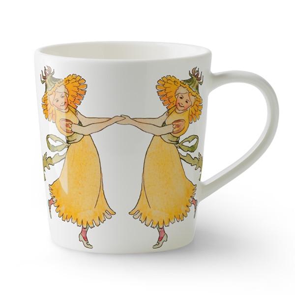 dandelion,ダンデライオン,たんぽぽ,Elsa Baskow(エルサ・べスコフ)マグカップ