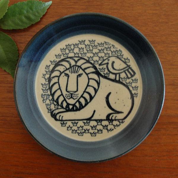 益子の皿,ライオンと鳥,青,Lisa Larson,リサラーソ,JAPAN Series,北欧雑貨,北欧インテリア,北欧キッチン雑貨