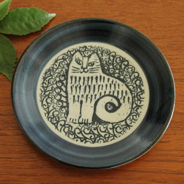 益子の皿,nina,青,Lisa Larson,リサラーソ,JAPAN Series,北欧雑貨,北欧インテリア,北欧キッチン雑貨