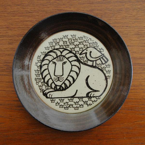 益子の皿ライオンと鳥,Lisa Larson,リサラーソ,JAPAN Series,北欧雑貨,北欧インテリア,北欧キッチン雑貨