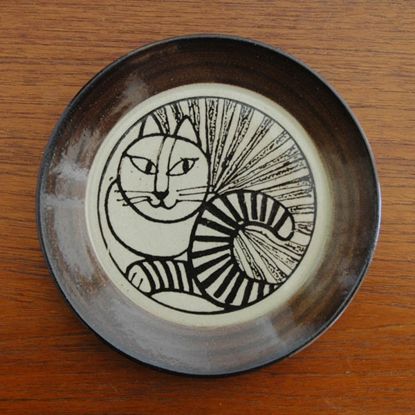 益子の皿ねこ白,Lisa Larson,リサラーソ,JAPAN Series,北欧雑貨,北欧インテリア,北欧キッチン雑貨