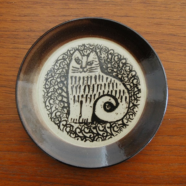 益子の皿,nina,ねこ,Lisa Larson,リサラーソ,JAPAN Series,北欧雑貨,北欧インテリア,北欧キッチン雑貨