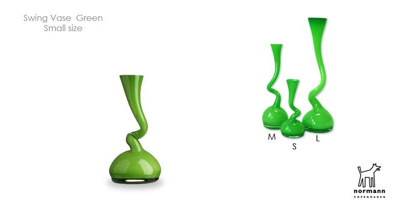 Swing Vase,スウィングベース,グリーン,normann COPENHAGEN,ノーマンコペンハーゲン,北欧インテリア,北欧雑貨,デザイナーズインテリア,花瓶,フラワーベース