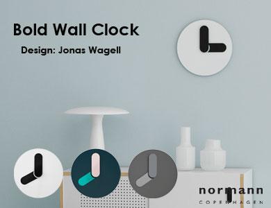 bold,wall clock,壁掛け時計,ノーマンコペンハーゲン,北欧インテリア,北欧雑貨