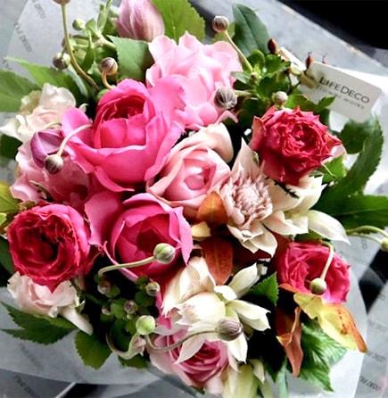 香庭 Koutei ~ 香りのバラが咲き誇るフェミニンなローズギフト ライフデコのフラワーバレンタインのお花の贈り物をプレゼント