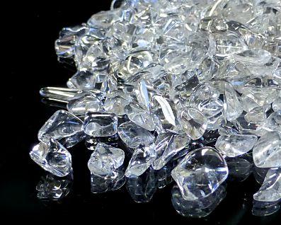 天然本水晶 さざれチップ (Mサイズ) 約5〜14mm玉