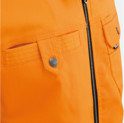 寅壱 長袖ブルゾン3940-124の胸ポケットアップ写真