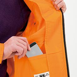 寅壱 長袖ブルゾン3940-124の内ポケットアップ写真
