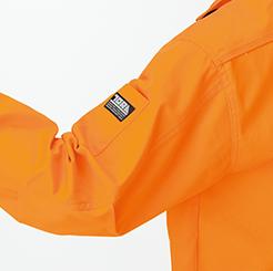 寅壱 長袖ブルゾン3940-124の腕ポケットアップ写真