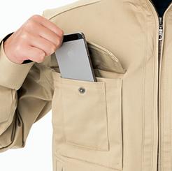 右胸大小二段式ポケット