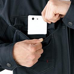 Z-DRAGONジャンパー 71200の携帯電話収納ポケット写真